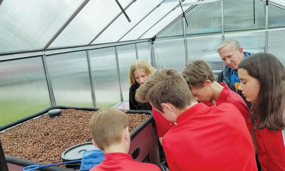 Aquaponics is NOT an underwater symphony – St. Thomas More School Educates!